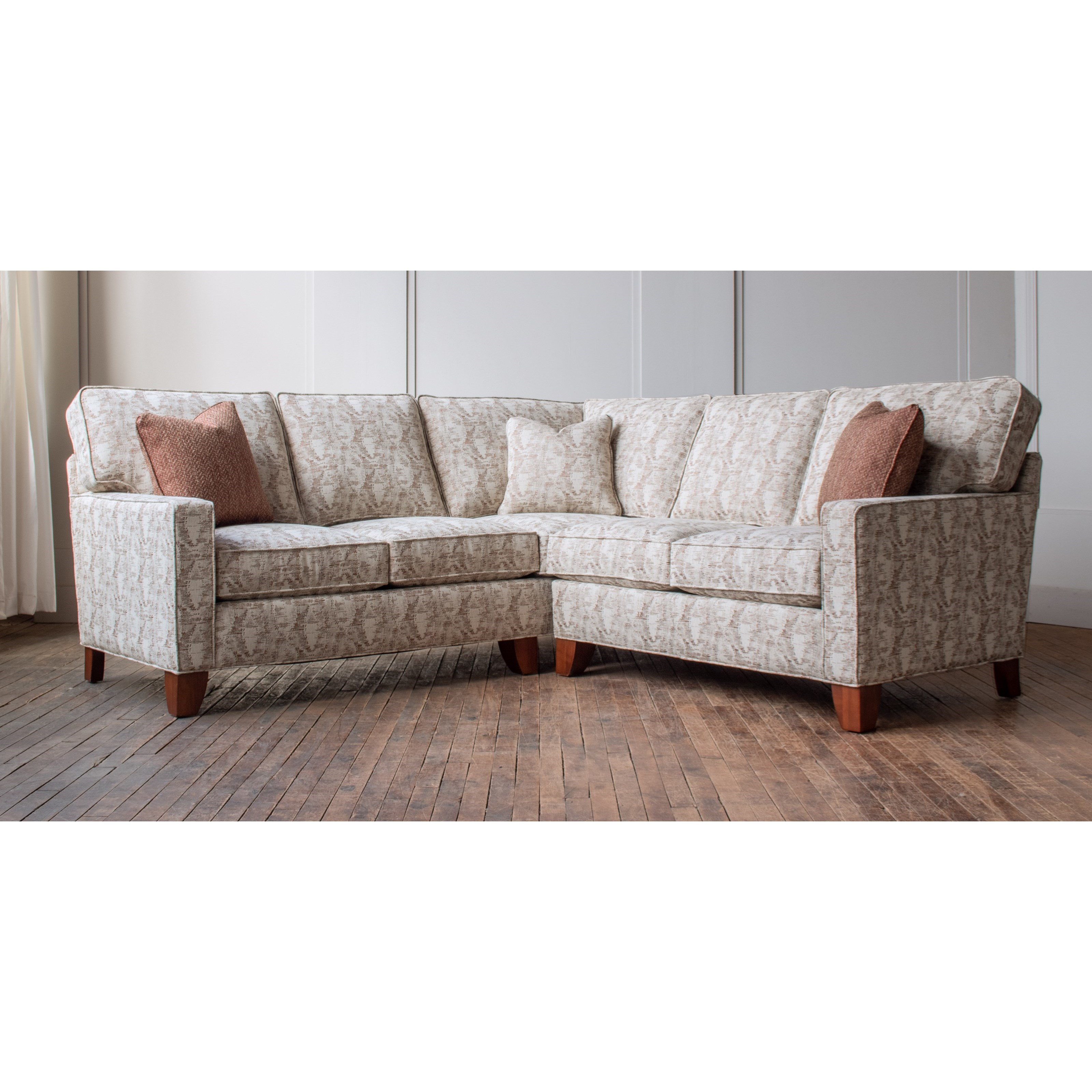 Madison Customizable Sectional with Track Arms at Bennett's Furniture and Mattresses