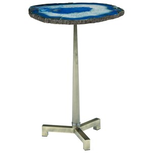 Accent End Table with Steel Base