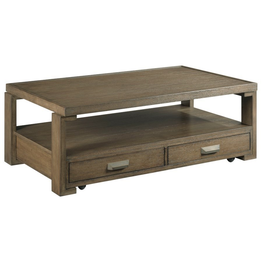 Amber Rectangular Coffee Table by Hammary at Suburban Furniture