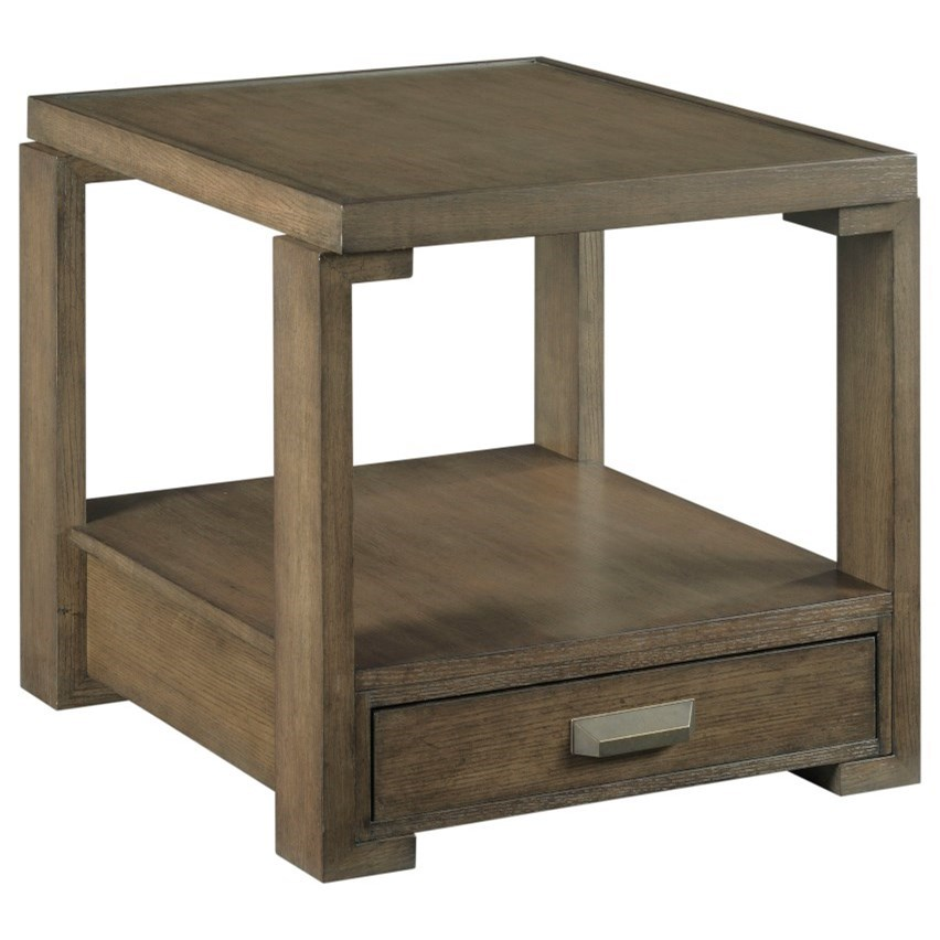 Amber Rectangular Drawer End Table by Table Trends at Sprintz Furniture