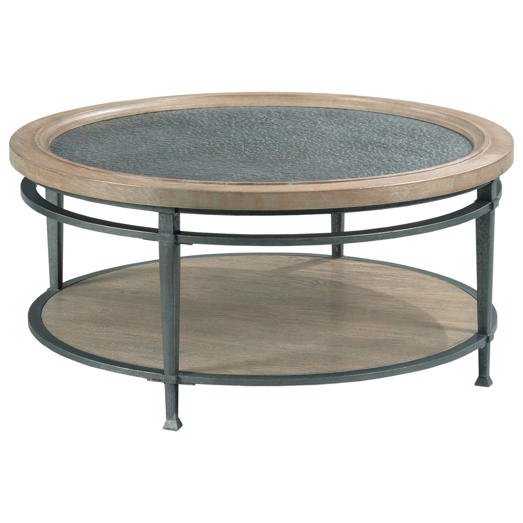 Austin Round Coffee Table by Hammary at Alison Craig Home Furnishings