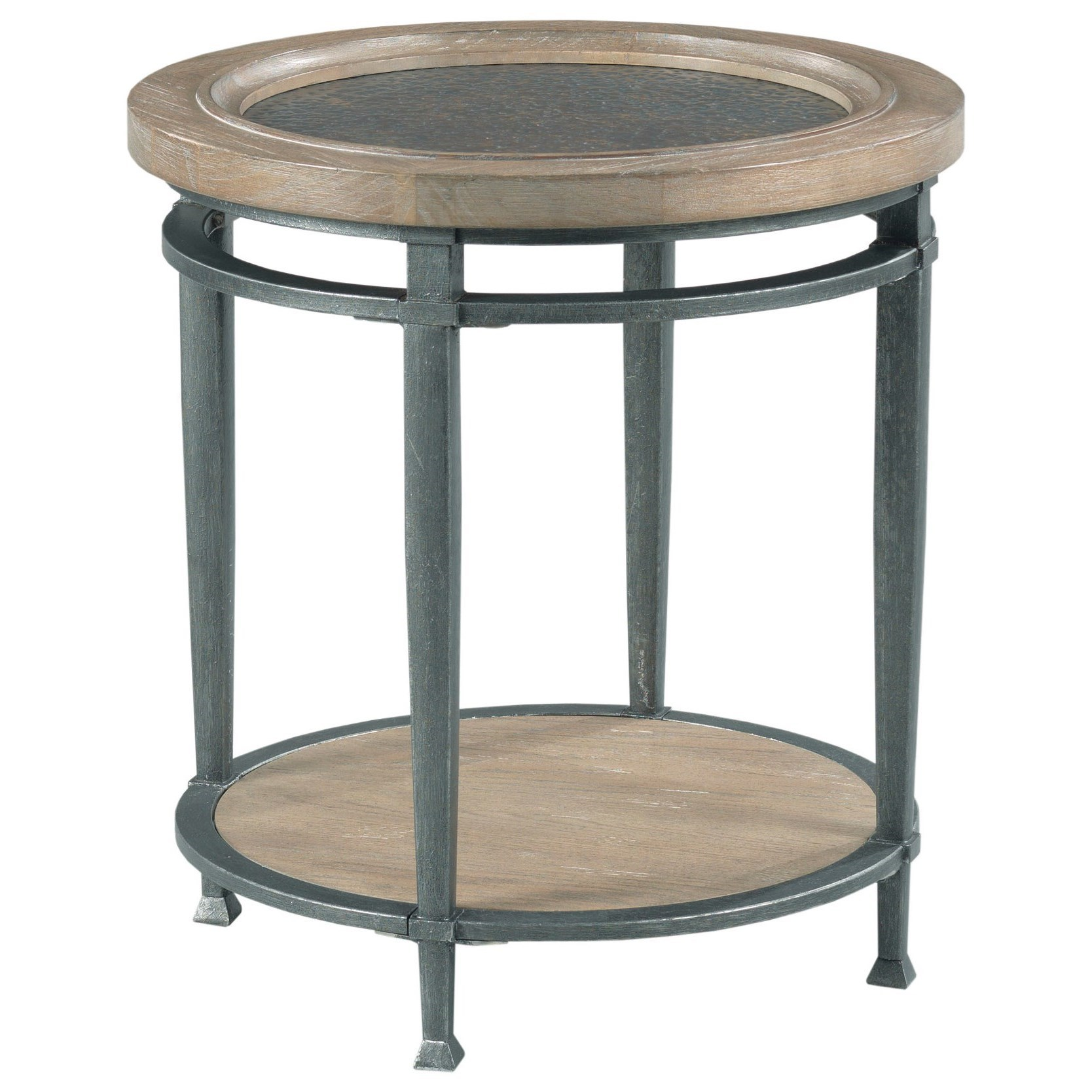 Austin Round End Table by Hammary at Alison Craig Home Furnishings
