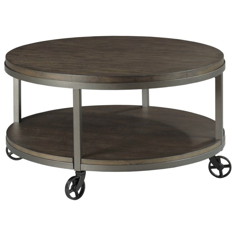 Baja II Round Cocktail Table by Hammary at Jordan's Home Furnishings
