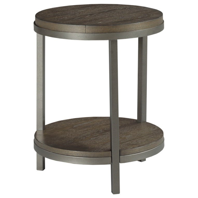 Baja II Round End Table by Hammary at Alison Craig Home Furnishings