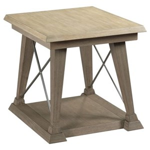 Transitional Rectangular End Table with Two Tone Finish