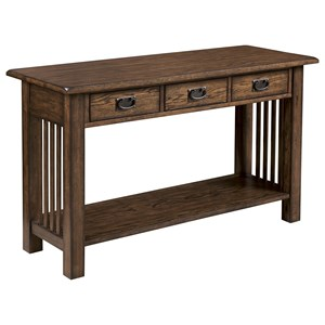 Mission Sofa Table with Three Drawers