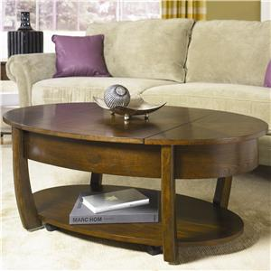Hammary Concierge Oval Cocktail Table