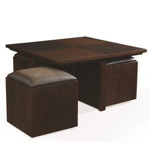 Hammary Cubics Square Cocktail Table