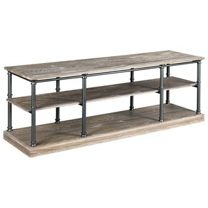 Industrial Entertainment Console with Shelves