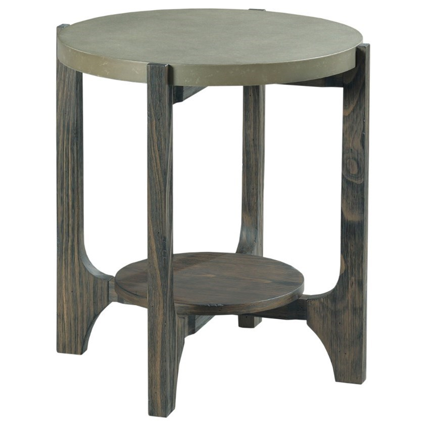 Delray Round End Table by Hammary at Johnny Janosik