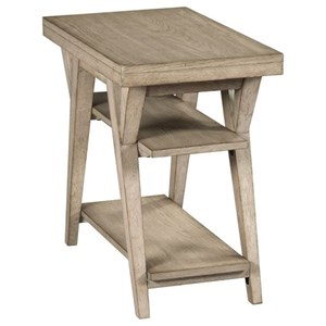 Transitional Chairside Table with Shelves