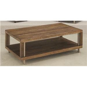 Hammary Flashback Open Rectangular Cocktail Table