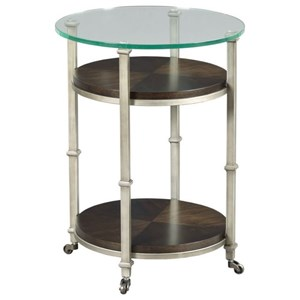Industrial Round End Table with Casters
