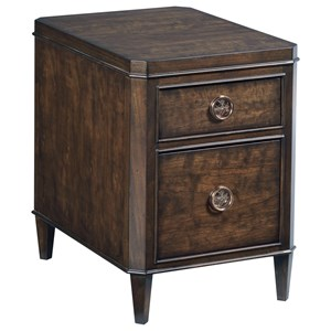 Transitional Charging Chairside Table with 2 Drawers