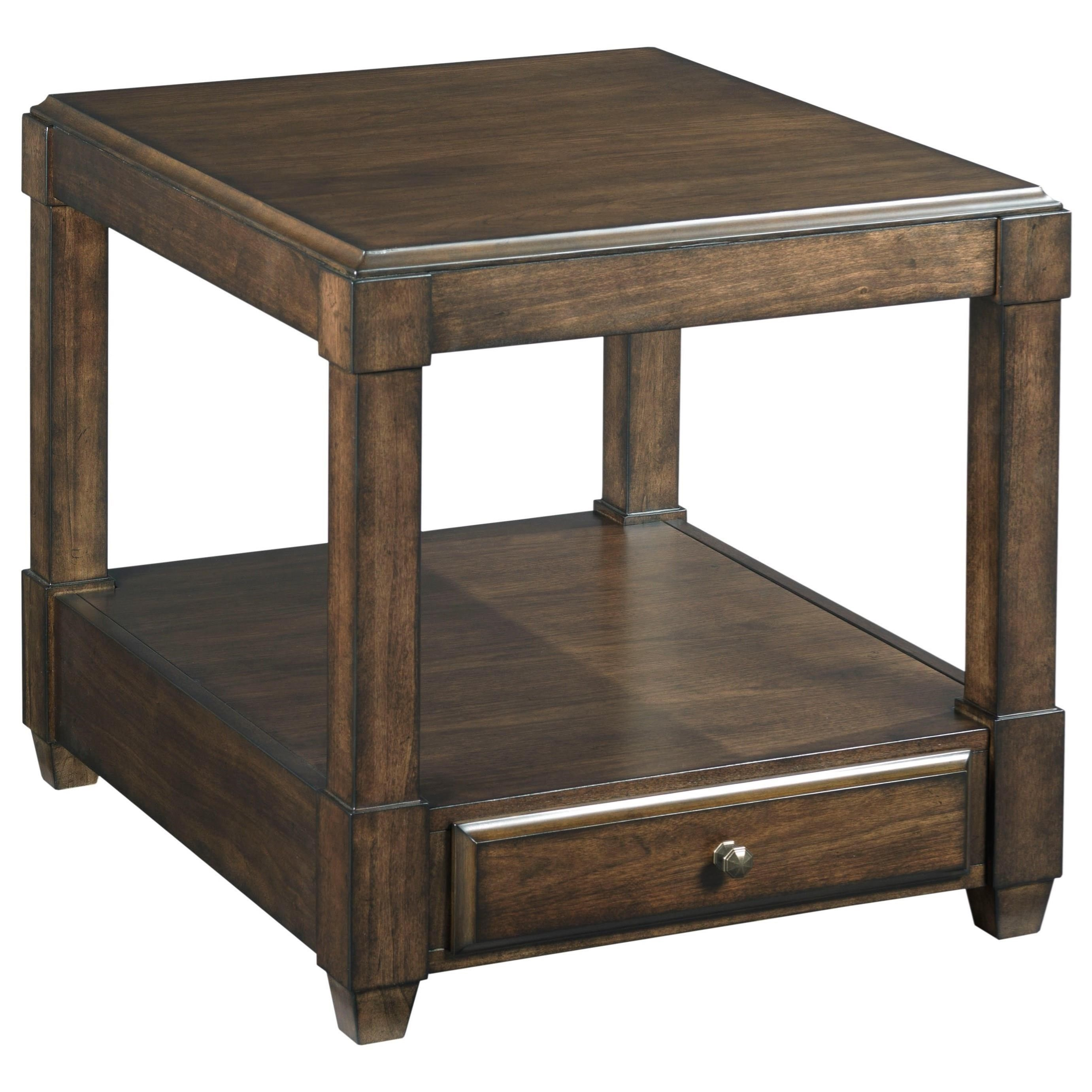 Halsey Rectangular Drawer End Table by Hammary at Suburban Furniture