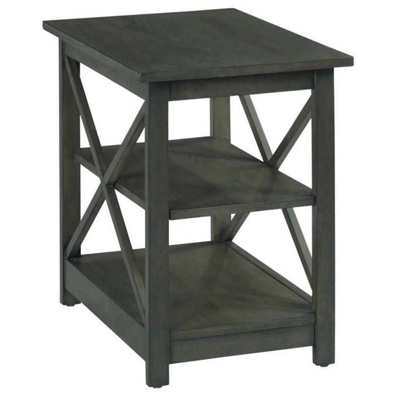 Chairsides Dark Brown Chairside by Hammary at Stoney Creek Furniture
