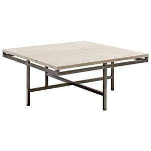 Square Cocktail Table with Faux Marble Top