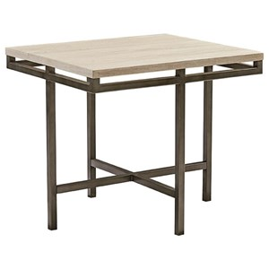 Rectangular End Table with Faux Marble Top