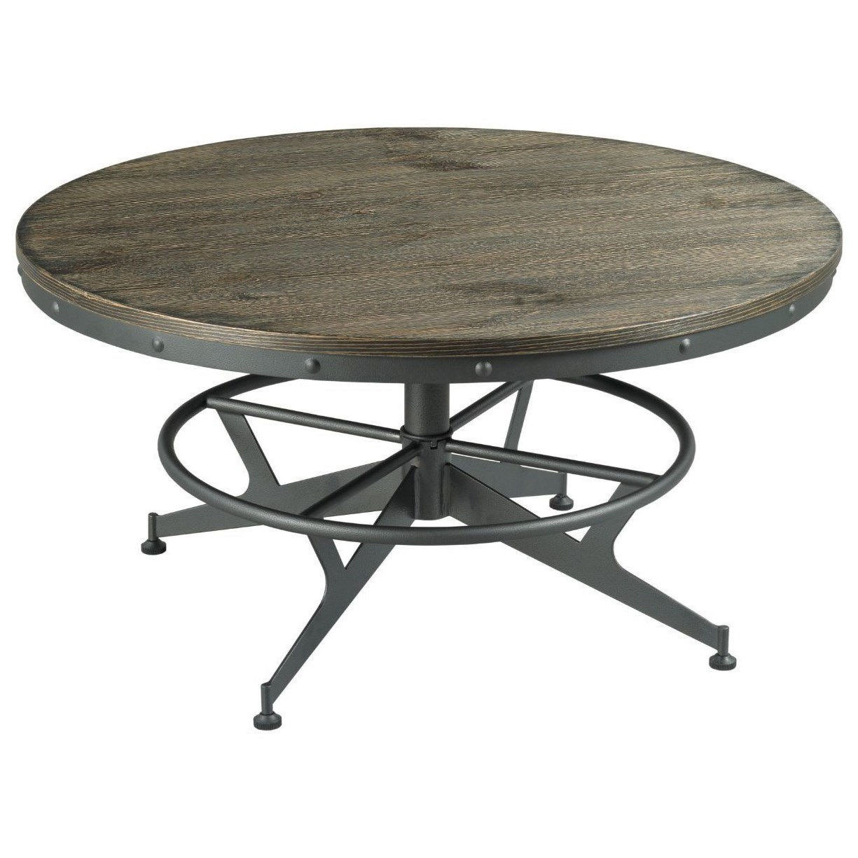 Hidden Treasures Round Coffee Table by Hammary at Stoney Creek Furniture