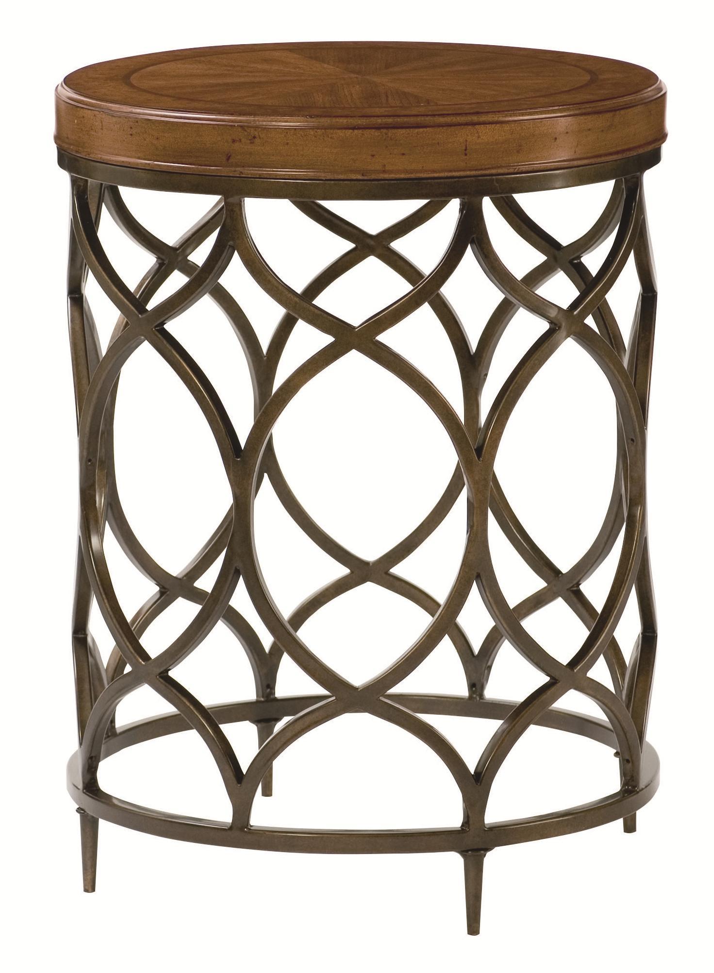 Hidden Treasures Round Lamp Table by Hammary at Johnny Janosik