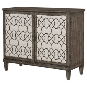 Rustic Nailhead Cabinet with Adjustable Shelf
