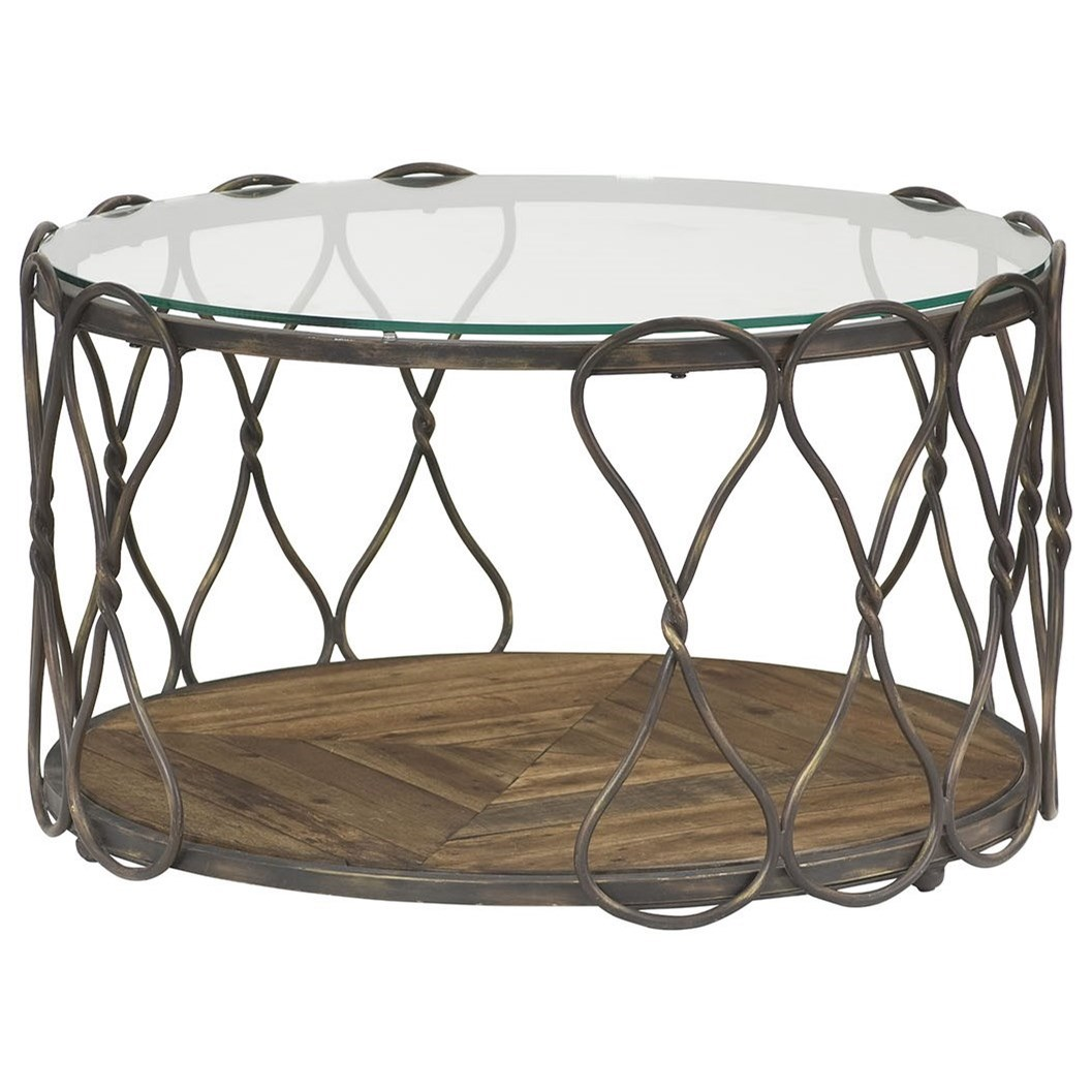 Hidden Treasures Round Cocktail Table by Hammary at Stoney Creek Furniture