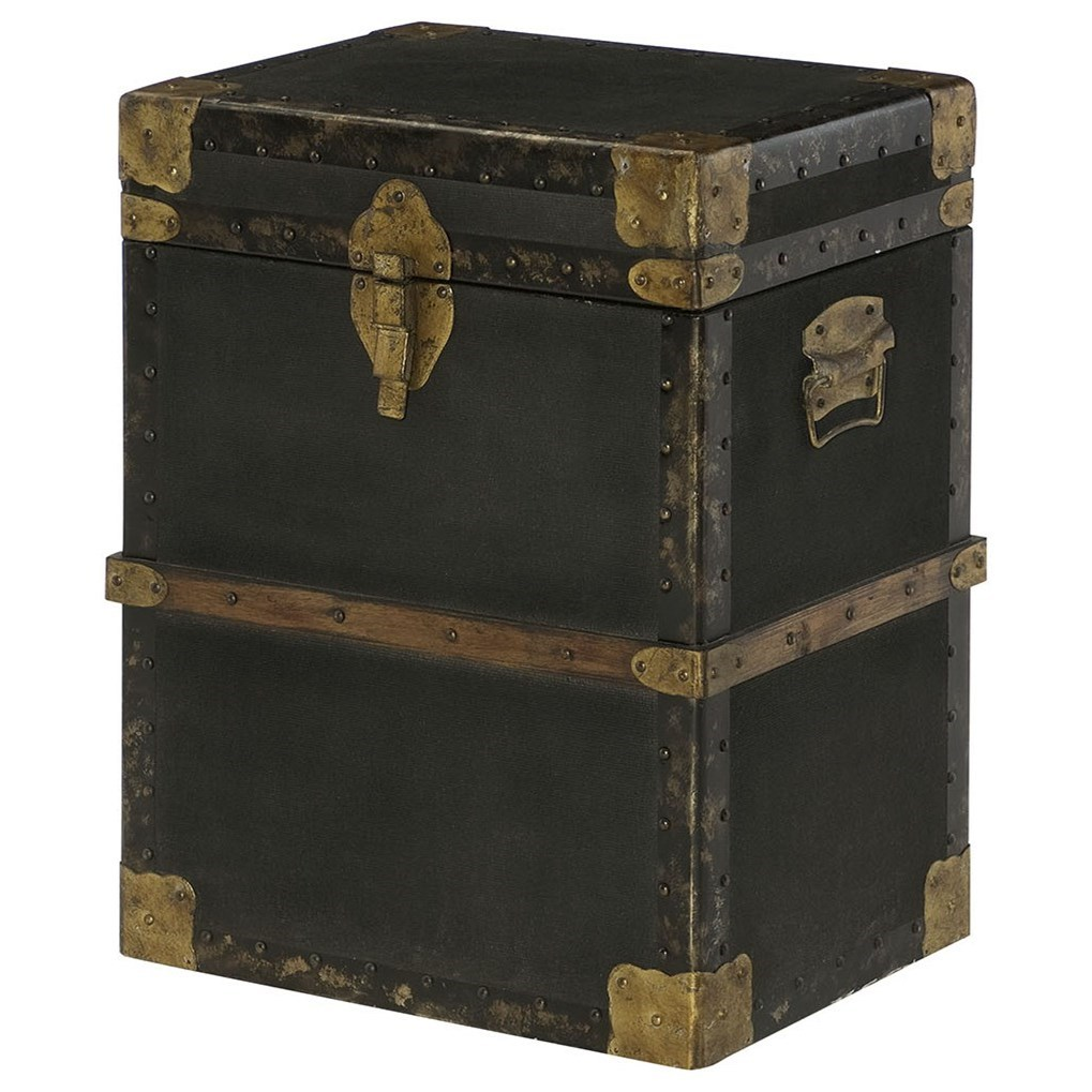 Hidden Treasures Trunk End Table by Hammary at Mueller Furniture