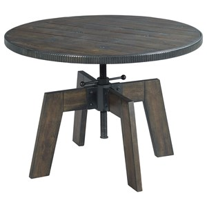 Industrial High-Low Cocktail Table with Metal Accents
