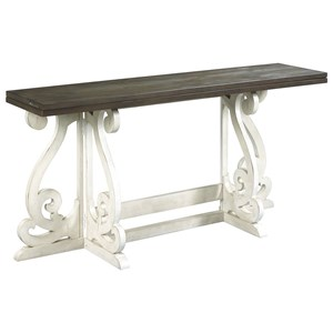 Cottage Gateleg Flip Top Table with Two-Tone Finish
