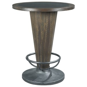 Industrial Cone Shaped Pub Table with Metal Insert