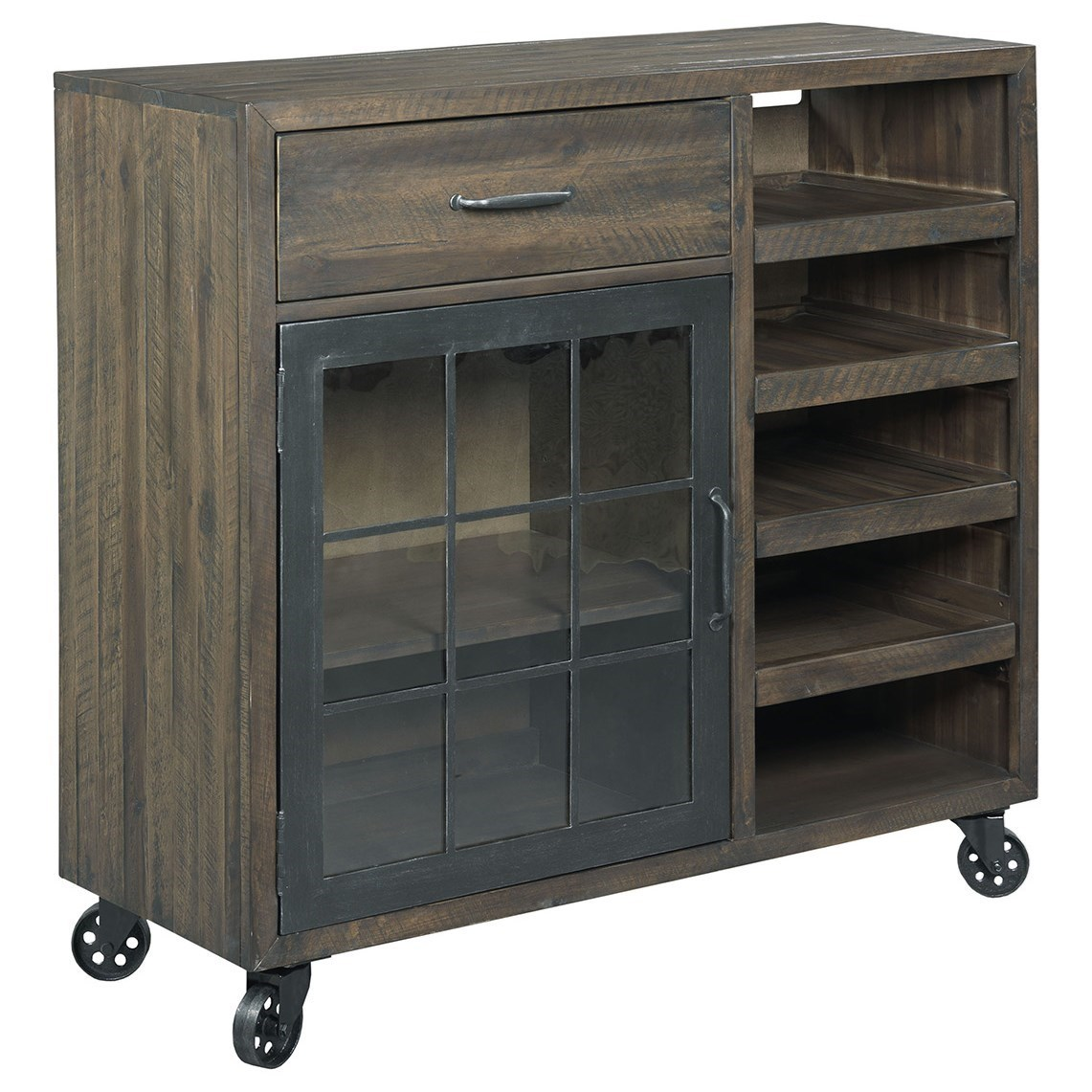 Hidden Treasures Bar Trolley                                  by Hammary at Pedigo Furniture