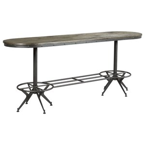 Industrial Counter Height Bar Table with Wood Top