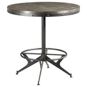 Industrial Counter Height Round Bar Table