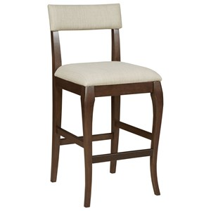 Transitional Barstool with Upholstered Seat