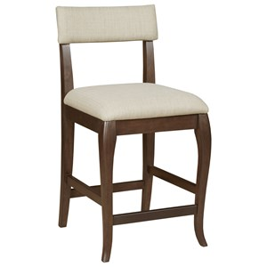 Transitional Counter Stool with Upholstered Seat