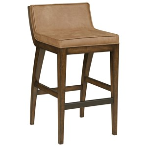 Contemporary Counter Stool with Upholstered Back