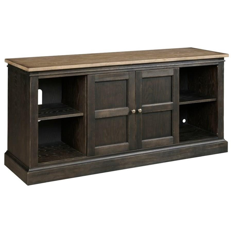 """Hancock 66"""" Entertainment Console by Hammary at Alison Craig Home Furnishings"""