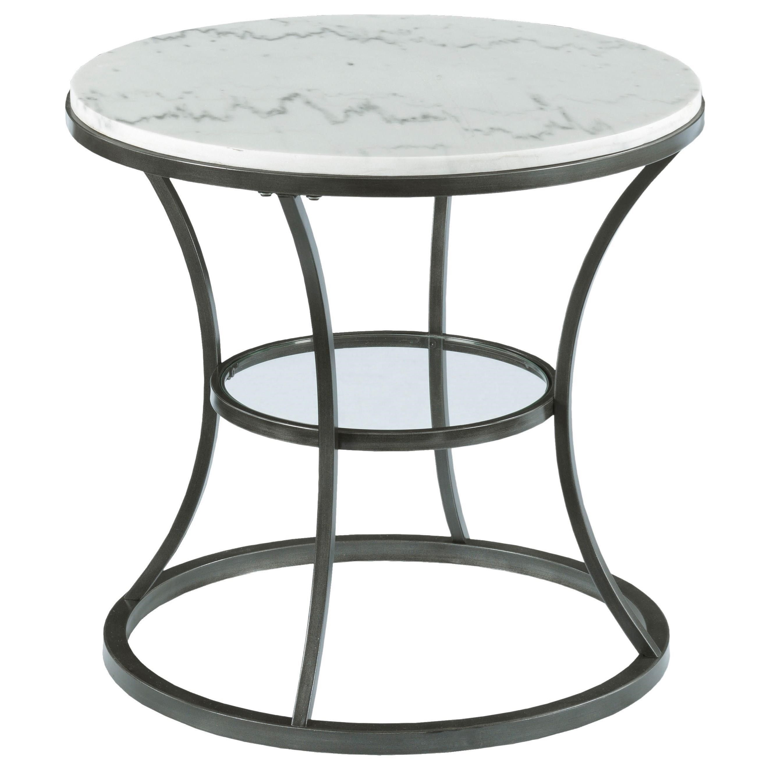 Impact Marble Top Round End Table by Hammary at Jordan's Home Furnishings