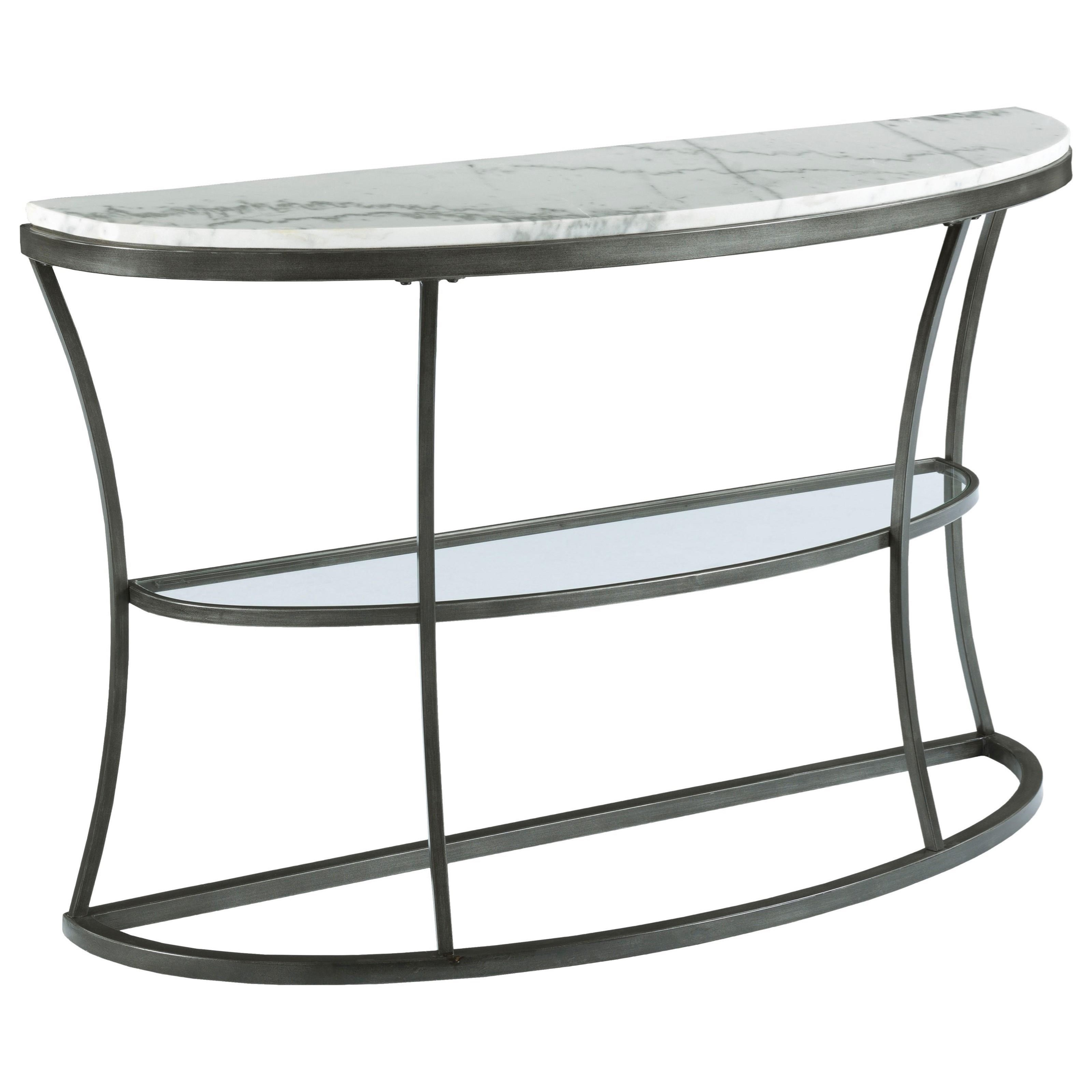 Impact Marble Top Demilune Console by Hammary at Darvin Furniture