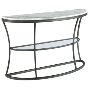 Marble Top Demilune Console