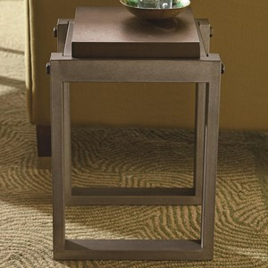 Industrial Spot Table with Wood Top