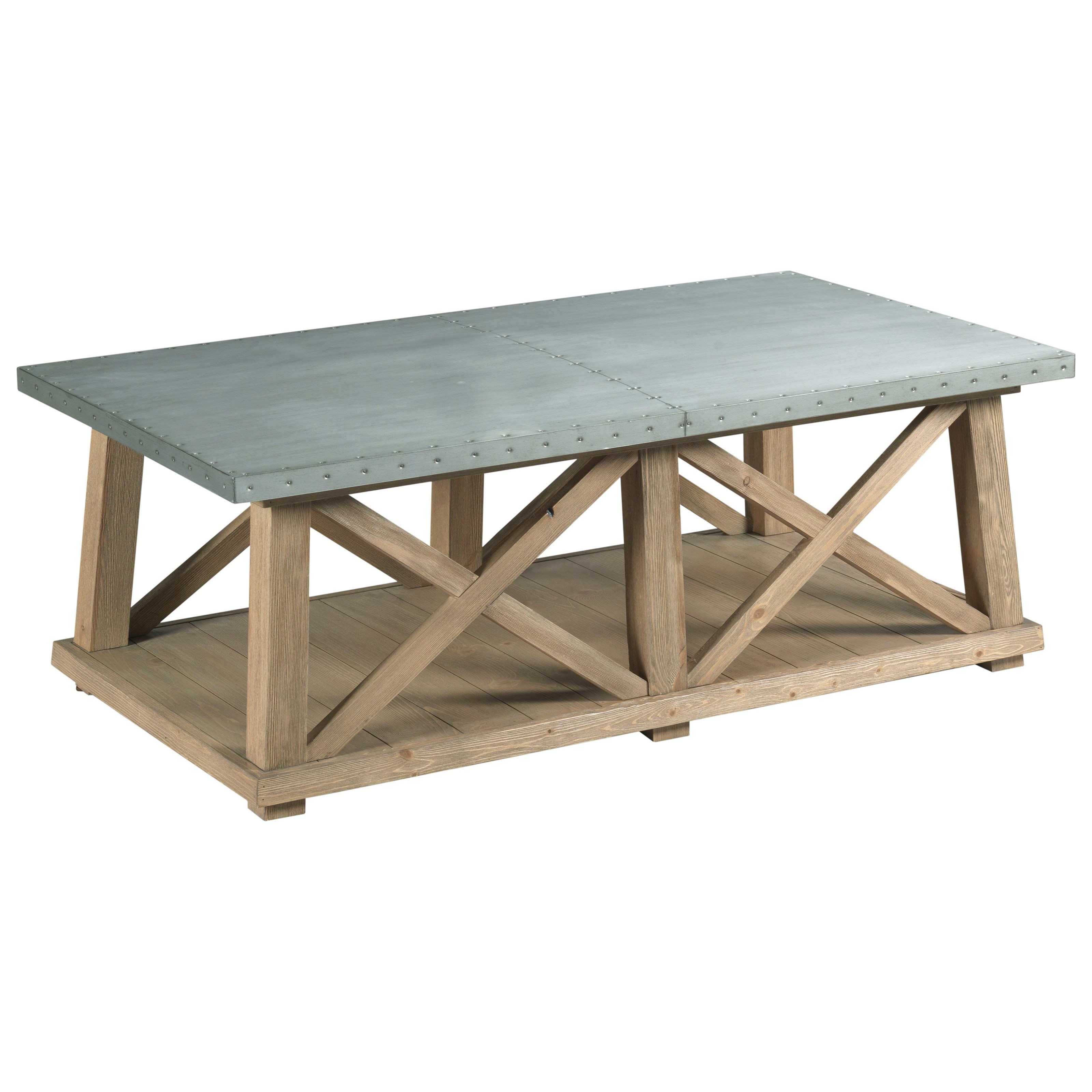 Junction Truss Cocktail Table by Hammary at Jacksonville Furniture Mart