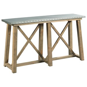 Truss Sofa Table Metal Top