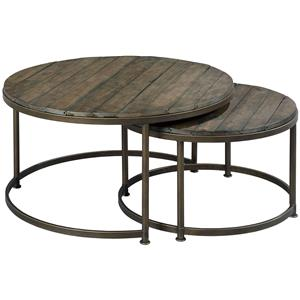 Round Nesting Cocktail Table