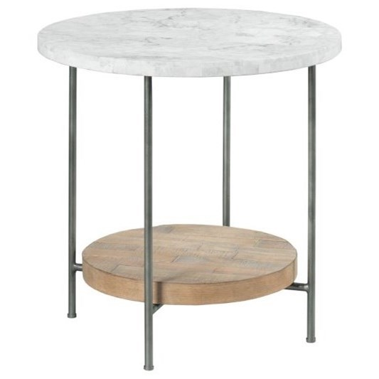 Madeira Round End Table by Hammary at Alison Craig Home Furnishings
