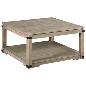 Rustic Square Cocktail Table with Removable Casters