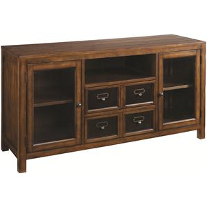 54-Inch Entertainment Console with Two Glass Doors & Two Drawers
