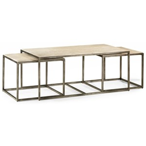 Rectangular Cocktail Table with Bronze with Nesting Tables