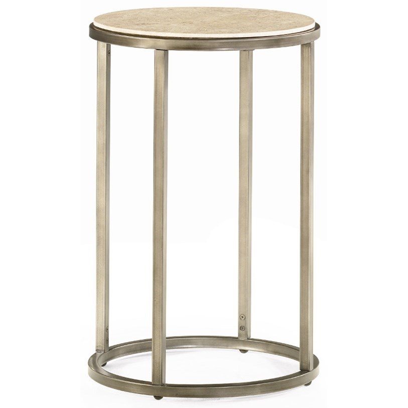 Modern Basics Round End Table by Hammary at Stoney Creek Furniture