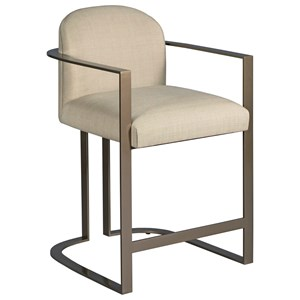 Gates Counter Stool with Metal Frame